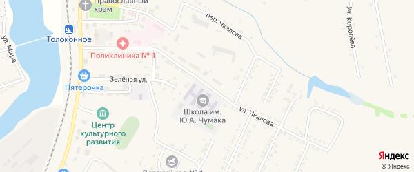 Улица Чкалова на карте Октябрьского поселка с номерами домов