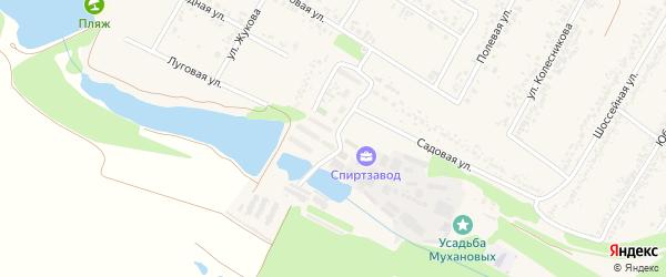 Заводская улица на карте села Веселой Лопани с номерами домов