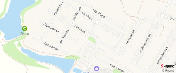 Зареченская улица на карте села Веселой Лопани с номерами домов