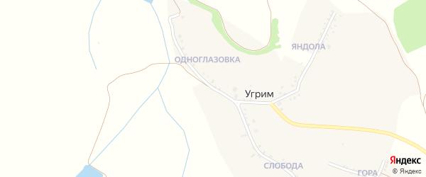 Луговая улица на карте хутора Угрима с номерами домов