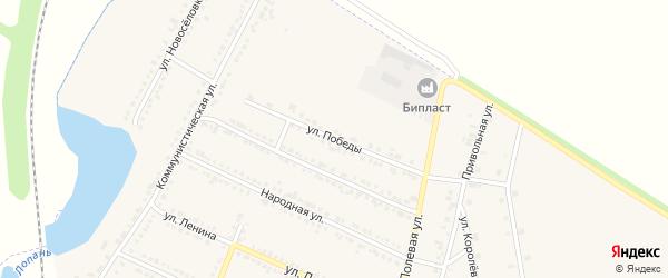Улица Победы на карте Октябрьского поселка с номерами домов