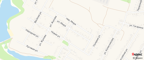 Улица Мира на карте села Веселой Лопани с номерами домов