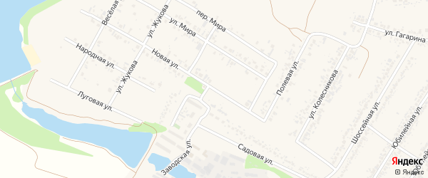 Новая улица на карте села Веселой Лопани с номерами домов