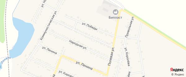 Улица А.Невского на карте Октябрьского поселка с номерами домов