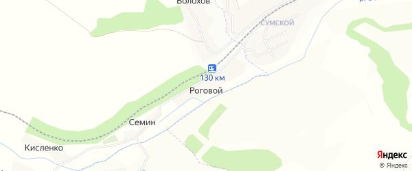 Карта Рогового хутора в Белгородской области с улицами и номерами домов