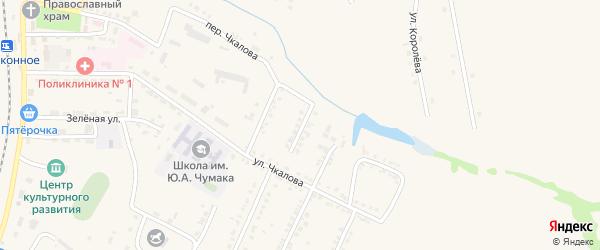 Озерный переулок на карте Октябрьского поселка с номерами домов