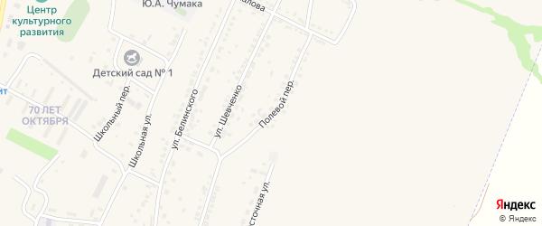 Полевой переулок на карте Октябрьского поселка с номерами домов