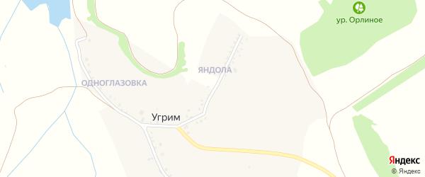 Садовая улица на карте хутора Угрима с номерами домов