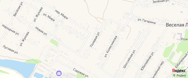 Полевая улица на карте села Веселой Лопани с номерами домов