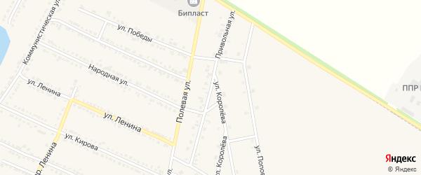 Привольная улица на карте Октябрьского поселка с номерами домов