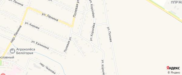 Улица Королева на карте Октябрьского поселка с номерами домов