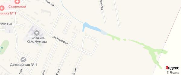 Улица Дзержинского на карте Октябрьского поселка с номерами домов