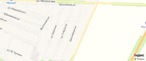 Шоссейная улица на карте Октябрьского поселка с номерами домов