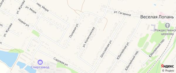 Улица Колесникова на карте села Веселой Лопани с номерами домов