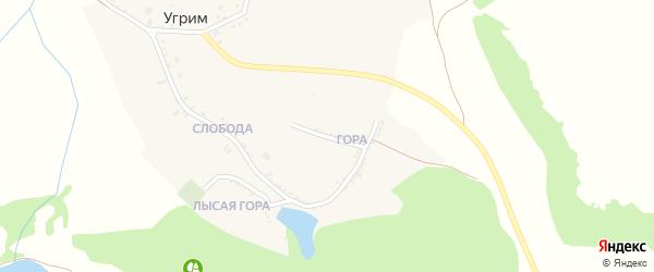 Нагорная улица на карте хутора Угрима с номерами домов
