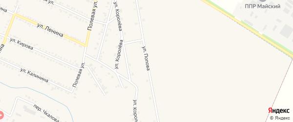 Улица Попова на карте Октябрьского поселка с номерами домов