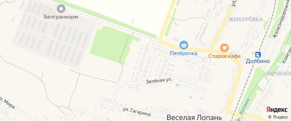 Первомайская улица на карте села Веселой Лопани с номерами домов