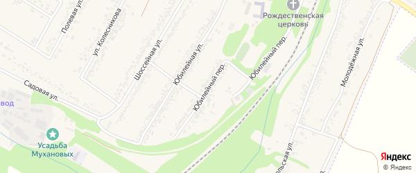 Юбилейный переулок на карте села Веселой Лопани с номерами домов