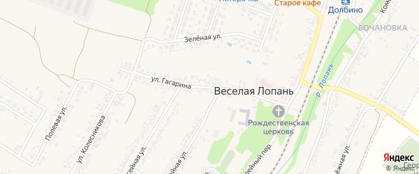 Улица Гагарина на карте села Веселой Лопани с номерами домов
