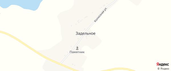 Лесная улица на карте Задельного села с номерами домов