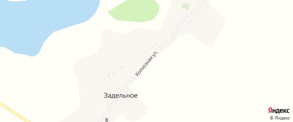 Колхозная улица на карте Задельного села с номерами домов