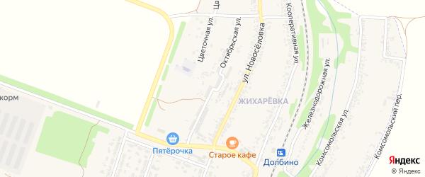Октябрьская улица на карте села Веселой Лопани с номерами домов