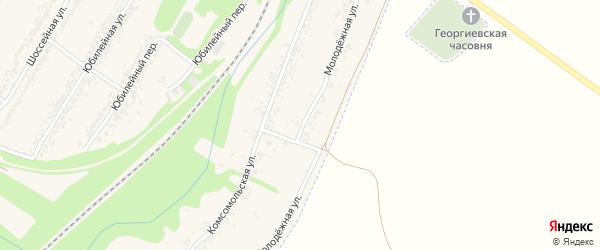 Молодежная улица на карте села Веселой Лопани с номерами домов