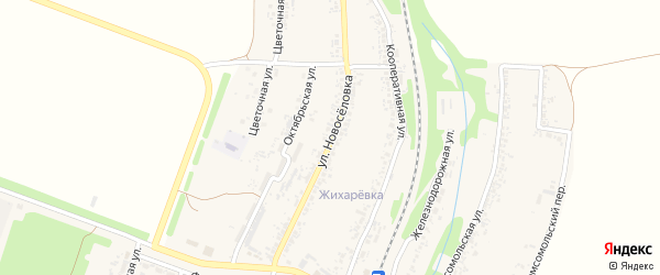 Улица Новоселовка на карте села Веселой Лопани с номерами домов
