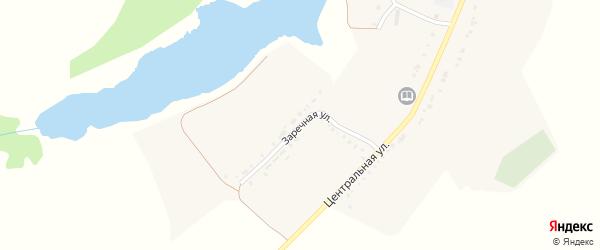 Заречная улица на карте села Сафоновки с номерами домов