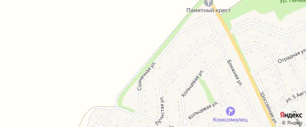 Солнечная улица на карте Комсомольского поселка с номерами домов