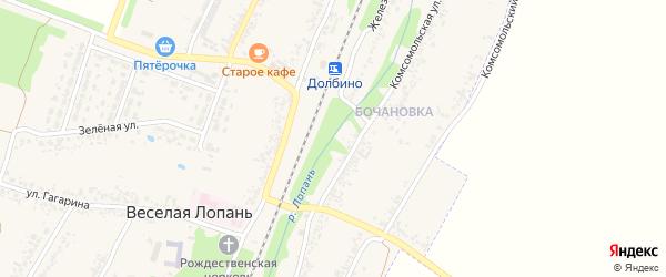 Фабричная улица на карте села Веселой Лопани с номерами домов