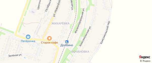 Железнодорожная улица на карте села Веселой Лопани с номерами домов