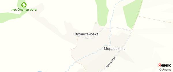 Карта хутора Вознесеновки в Белгородской области с улицами и номерами домов