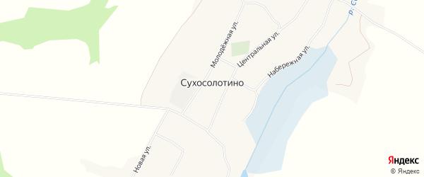 Карта села Сухосолотино в Белгородской области с улицами и номерами домов
