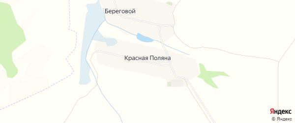 Карта хутора Красной Поляны в Белгородской области с улицами и номерами домов