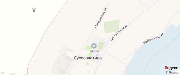 Молодежная улица на карте села Сухосолотино с номерами домов