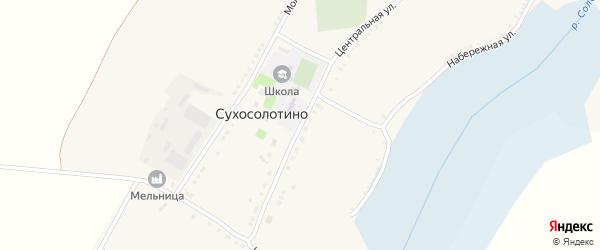 Центральная улица на карте села Сухосолотино с номерами домов