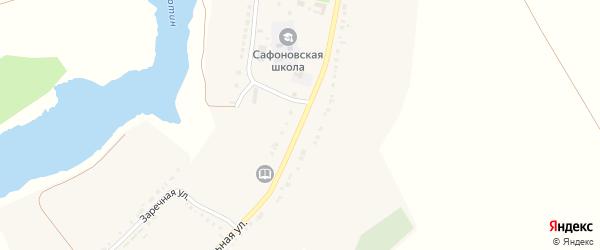 Центральная улица на карте села Сафоновки с номерами домов