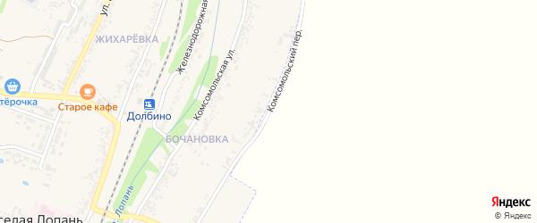 Комсомольский переулок на карте села Веселой Лопани с номерами домов