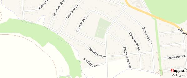 Алмазная улица на карте Комсомольского поселка с номерами домов