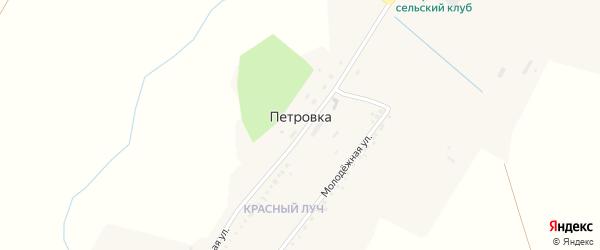 Трудовая улица на карте села Петровки с номерами домов