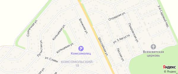 Ближняя улица на карте Комсомольского поселка с номерами домов