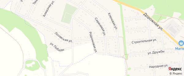 Родниковая улица на карте Комсомольского поселка с номерами домов