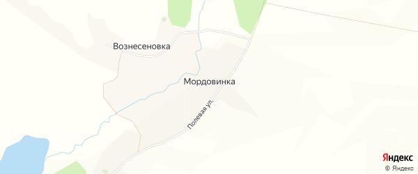 Карта хутора Мордовинки в Белгородской области с улицами и номерами домов
