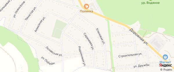 Сиреневая улица на карте Комсомольского поселка с номерами домов