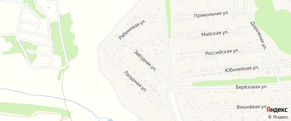 Звездная улица на карте Комсомольского поселка с номерами домов