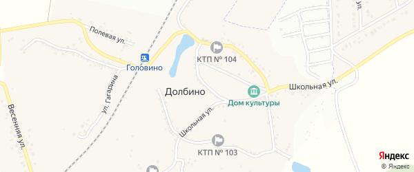 Улица Кривоноса на карте села Долбино с номерами домов