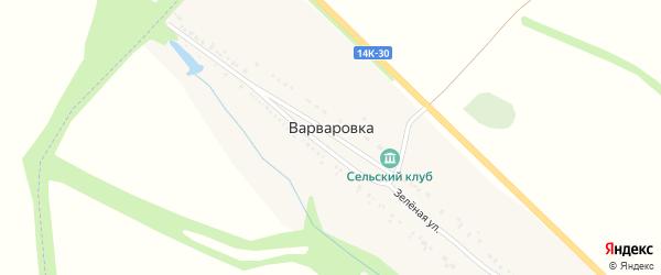Зеленая улица на карте села Варваровки с номерами домов