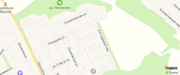 Садовый 2-й переулок на карте Комсомольского поселка с номерами домов
