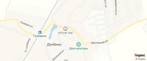 Садовая улица на карте села Долбино с номерами домов
